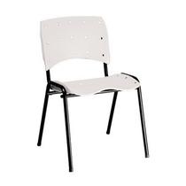 Cadeira Ergoclass Em Polipropileno Branca Fixa Empilhavel
