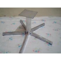 Base Giratoria Em Aluminio Polido 25 Cm Com 5 Palhetas