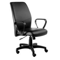 Cadeira Diretor Ferrara Com Apoia Braços Fixo, Base Rhodes