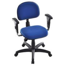 Cadeira Secretária Ergonomica Back System Com Apoia Braços