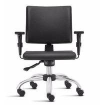 Cadeira Ergonomica Cromada Sephia Com Back System Com Braços