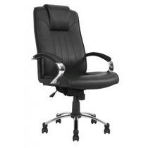 Cadeira Presidente/diretor Alto Padrão Com Braços Cromada