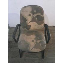 Conjunto 6 Cadeiras De Reunião P/escritório Reformada (lona)