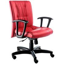Cadeira Diretor Veneza Com Apoia Braços Fixa, Base Rhodes