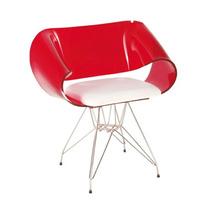 Cadeira Acrílica Modelo Envelope Torre Em Aço Inox- Promoção
