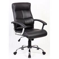Cadeira Em Couro Ecológico Executiva Presidente Preta