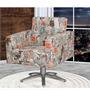 Cadeira Poltrona Giratória Decorativas Recepção Fratello
