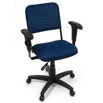 Cadeira Digitador Encosto Tela C/ Apoia Braços Base Rhodes