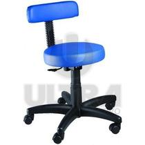 Cadeira Mocho Para Dentista / Tatuador Base Cinza Ou Preta