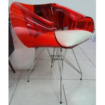 Cadeira Acrílica Modelo Envelope Torre Em Inox - Promoção