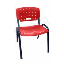 Cadeira Fixa Empilhavel Para Igreja (pes Na Cor Preta)
