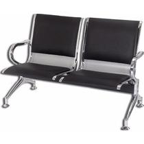 Cadeira Longarina Aeroporto Cromada 2 Lugares Super Promoção