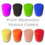 Puff Redondo Decorativo Para Sala, Quarto E Salão De Beleza
