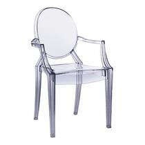 Cadeira Louis Ghost C\ Braço Policarbonato Empilhavel