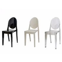 Cadeira Louis Ghost S\ Braço Policarbonato Empilhavel