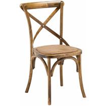 Cadeira Katrina Bétula Sala Almoço Jantar Madeira Rattan