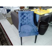 Cadeira Iara Omega Estofada Madeira Para Mesa De Jantar