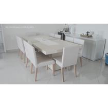 Cadeira Estofada Para Sala De Jantar Tecido Estampado