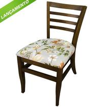 Cadeira Madeira Maciça Assento Estofado