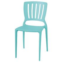 Cadeira Tramontina Sofia Encosto Vazado Azul