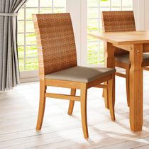 Cadeira Londres Fibra Sintética De Madeira.