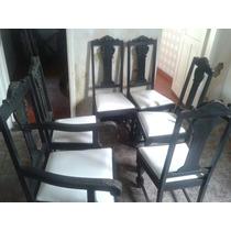 Cadeiras De Jantar (5) E 2 Poltronas