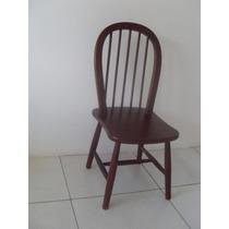 Par De Cadeiras De Jantar, Madeira Na Cor Imbuia, Cadeira