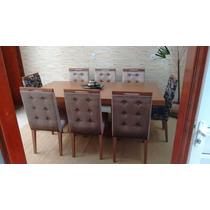 Cadeira Estofada Para Sala De Jantar Com Puxador