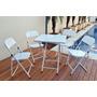 Jogo Conjunto De Mesa E 4 Cadeiras Aço Metalmix