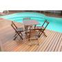 Jogos De Mesa Bar 70x70 Com 4 Cadeiras Dobráveis Em Madeira