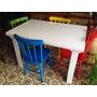 Conjunto Mesa 120x80 C/4 Cadeiras Color¿idas.