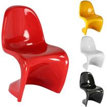 Cadeira Panton Em Abs C/ Brilho - Promoção 12x Sem Juros