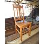 Cadeira Em Madeira De Demolição (peroba Rosa)