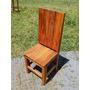 Cadeira Luxo De Madeira Peroba Rosa - Madeira Maciça