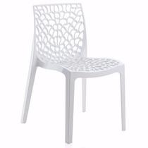 Cadeira Gruvyer Branca Italiana Polipropileno
