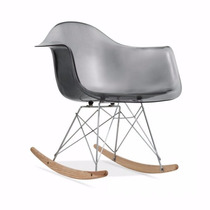 Cadeira Charles Eames Rar De Balanço Transparente E Colorida