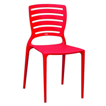 Cadeira Sofia Vermelho Encosto Detalhado Vazado - Tramontina