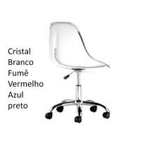 Cadeira Com Rodizio Policarbonato Transparente Eames