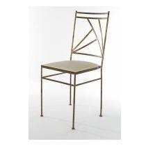 Cadeira De Ferro Ouro Velho Assento Crú