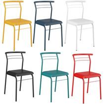 Cadeiras Coloridas 1708 Carraro Em Aço! Nacional E Forte!
