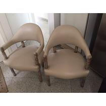 Cadeiras Em Couro Sintético Conjunto Com Seis Peças