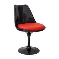 Cadeira Saarinen Tulipa Sem Braço Giratória Com Almofadas