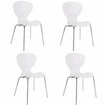 Cadeira De Jantar Cozinha Restaurante Formiga Kit 4