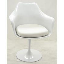 Cadeira Saarinen C/ Braço Branca. Estrutura Em Plástico Abs