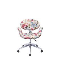 Cadeira Tulipa Base Giratória - Floral