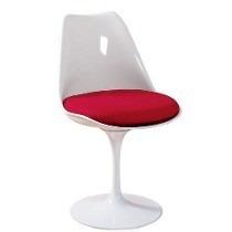 Cadeira Acrílica Tulipa Saarinen Sem Braço Base Em Alumínio