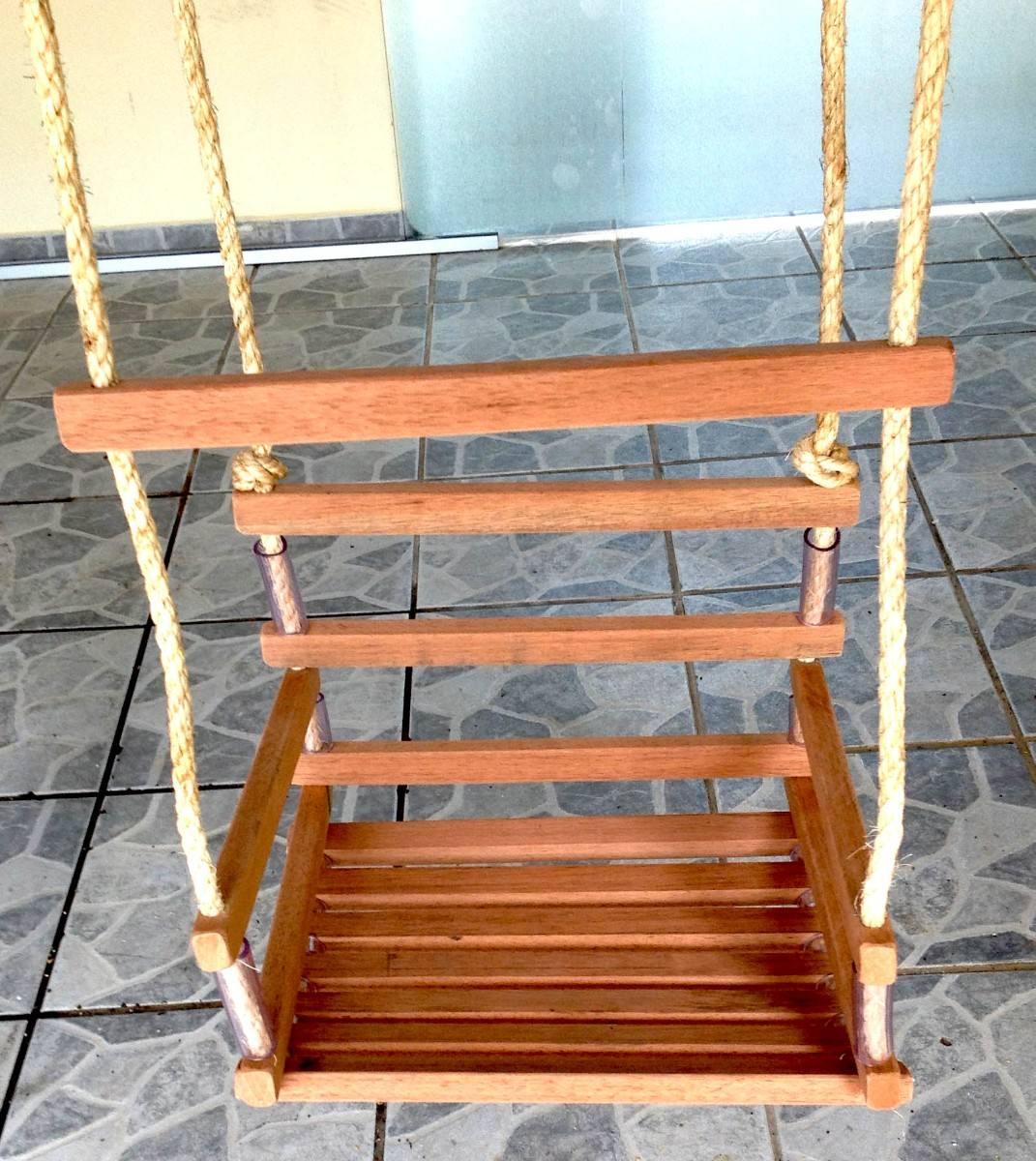 Cadeirinha Balanço Infantil Em Madeira Cedrinho R$ 87 55 no  #833910 1071x1200