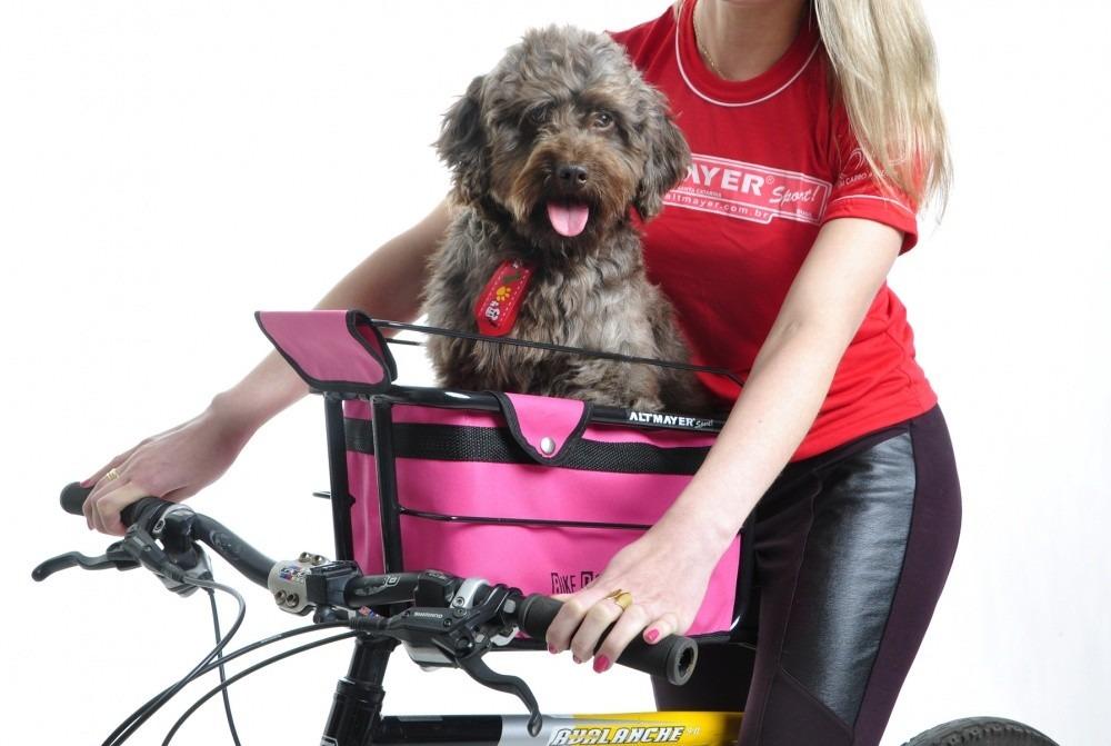 Bolsa Para Levar Cachorro Na Bicicleta : Cadeirinha p transportar cachorro na bike cestinha ref