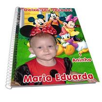 15x21 Caderno Personalizado Capa Dura C/ 60 Fls Coloridas