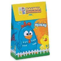 10 Mini Caixa Trapézio Galinha Pintadinha, Aniversáriosacola